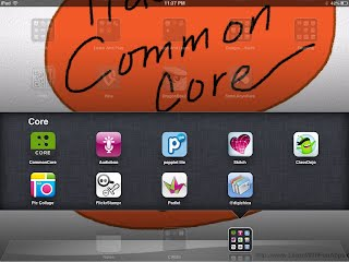 Screenshot of ipad and apps